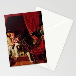 Jean-Auguste-Dominique Ingres - The Death of Leonardo da Vinci Stationery Cards