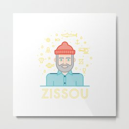 The life aquatic zissou Metal Print