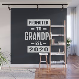 Promoted to Grandpa Est. 2020 Grandpa Fathers Day Gift Wall Mural