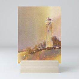 A golden, Crisp Point Mini Art Print