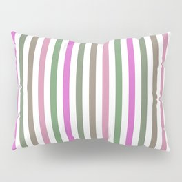 Pink Roses in Anzures 1 Stripes 1V Pillow Sham