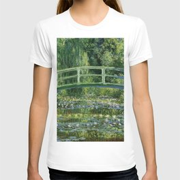 Water Lilies And The Japanese Bridge Claude Monet T-shirt