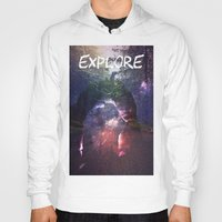 explore Hoodies featuring Explore by Isaak_Rodriguez