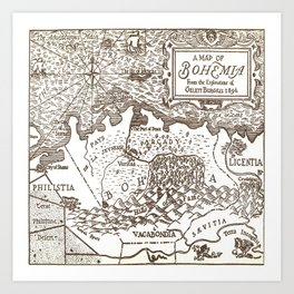 Map of Bohemia Art Print