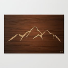 Carved Mountians Canvas Print