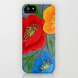 Poppies-3 iPhone Case