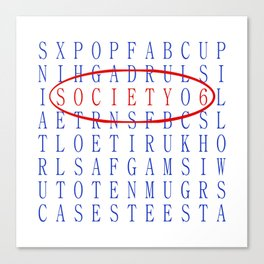 S6 Word Search Canvas Print