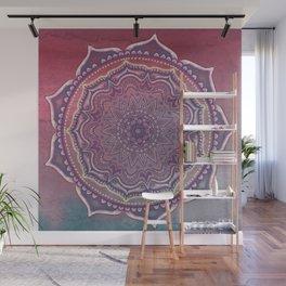 Pink and Blue Mandala Wall Mural