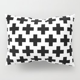 Swiss Cross B&W Pillow Sham