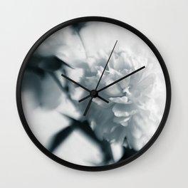 White peoinies Wall Clock