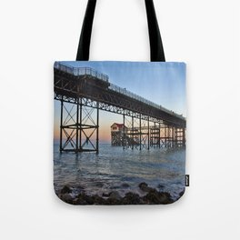 The Boathouse on the Pier. Tote Bag