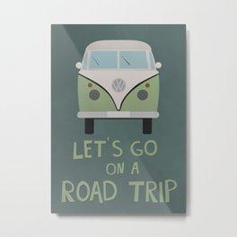 Road Trip Van Metal Print
