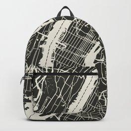New York City Map_BLACK Backpack