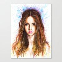 emma watson Canvas Prints featuring Emma Watson by Creadoorm