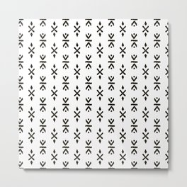 Black and white indian boho summer ethnic arrows Metal Print