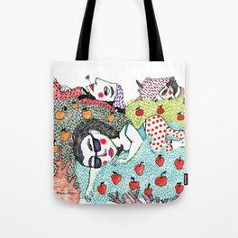 Ladies in Apple Trees Tote Bag