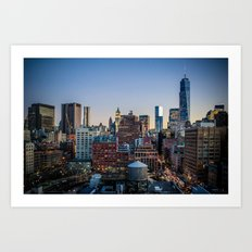 Manhattan Skyline Art Print