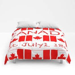 Canada Day Maple Leaf Pattern Canadian Flag Comforters