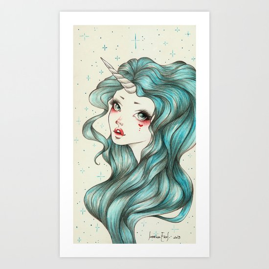 Unicorn Girl Art Print
