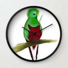 Quetzal Lindo Wall Clock
