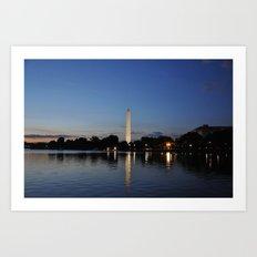 Washington Memorial Across Tidal Basin Art Print