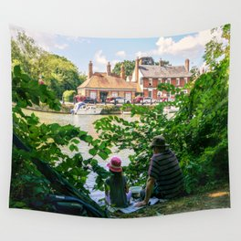 Gone fishing. Wall Tapestry