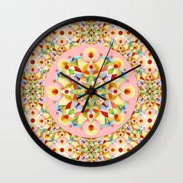 Pastel Carousel Pink Circle Wall Clock