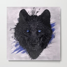 The Paint & The Wolf Metal Print
