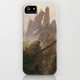 Caspar David Friedrich - Rocky Lanscape in the Elbe Sandstone Mountains iPhone Case