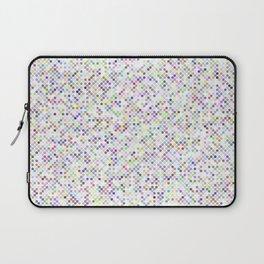 Cyberflowers pixel dots on white background Laptop Sleeve