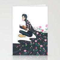 tyler spangler Stationery Cards featuring Flowering Tyler by poweredbycokezero