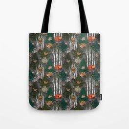 Sleepy Scandinavian Forest Tote Bag