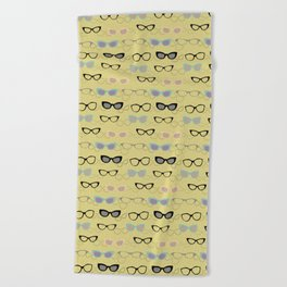 1950's Specs on Chartreuse Beach Towel