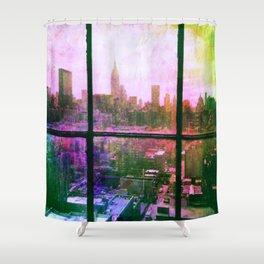 i love NY watercolor Shower Curtain