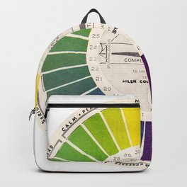 Vintage Color Wheel - Art Teaching Tool - Rainbow Mood Chart Pride Backpack