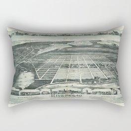 Aerial View of Riverhead, Long Island, New York (1890) Rectangular Pillow