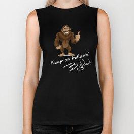 Keep On Believin Bigfoot Autograph Biker Tank