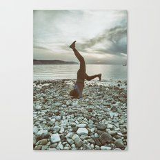 Life is not a perfect yoga pose Canvas Print