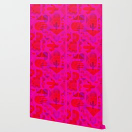 Neon Cutout Print Wallpaper