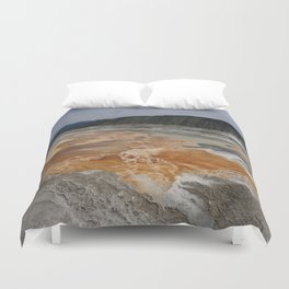 Mammoth Hot Spring Colors Duvet Cover