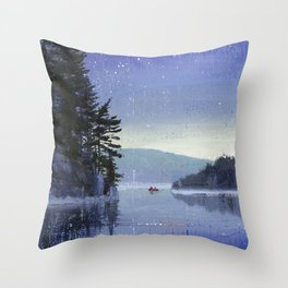 rocky cliff Throw Pillow