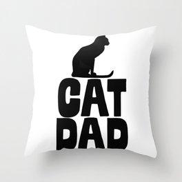 Cat Dad Throw Pillow