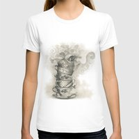 bath T-shirts featuring Tea bath by Julia Kisselmann