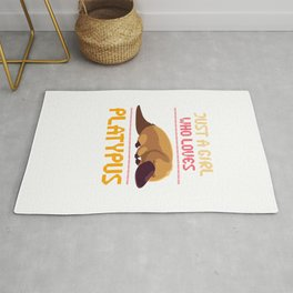 Just A Girl Who Loves Platypus Rug