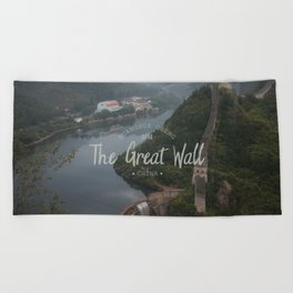A different view of The Great Wall of China Beach Towel