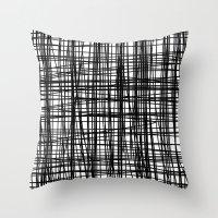 striped Throw Pillows featuring striped by nionio.design
