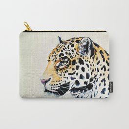 The Leopard Watercolor (Color) Carry-All Pouch