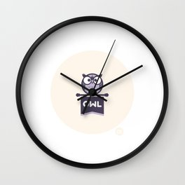 Owl Mascot Wall Clock