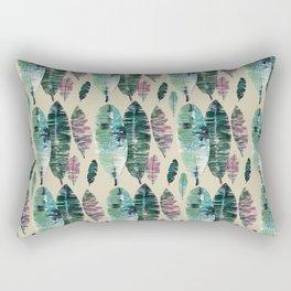 Banana Leaf Tropical Print Rectangular Pillow