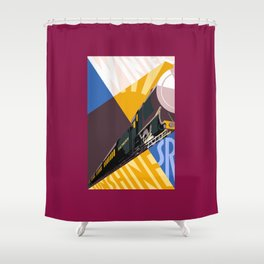Travel South for Winter Sunshine Shower Curtain